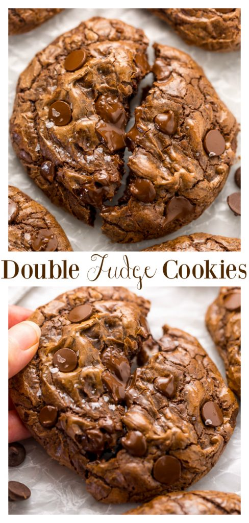 Warning: These Soft Batch Double Chocolate Fudge Cookies are for CHOCOLATE LOVERS only!!! Full of intense chocolate fudge flavor, these cookies basically melt in your mouth. So good with a glass of milk!