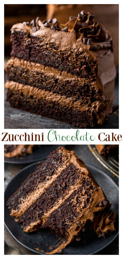 This is a great recipe for Chocolate Zucchini Cake with Chocolate Frosting! 2 cups of shredded zucchini makes this cake so moist and delicious. You're going to love this cake!