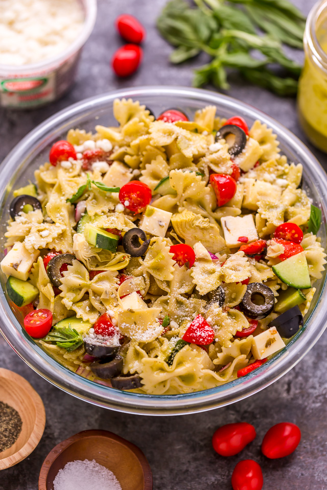 Easy Italian Veggie Pasta Salad Baker By Nature