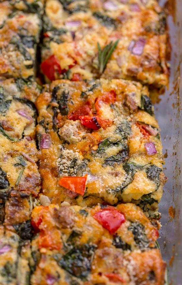 Overnight Italian Breakfast Casserole