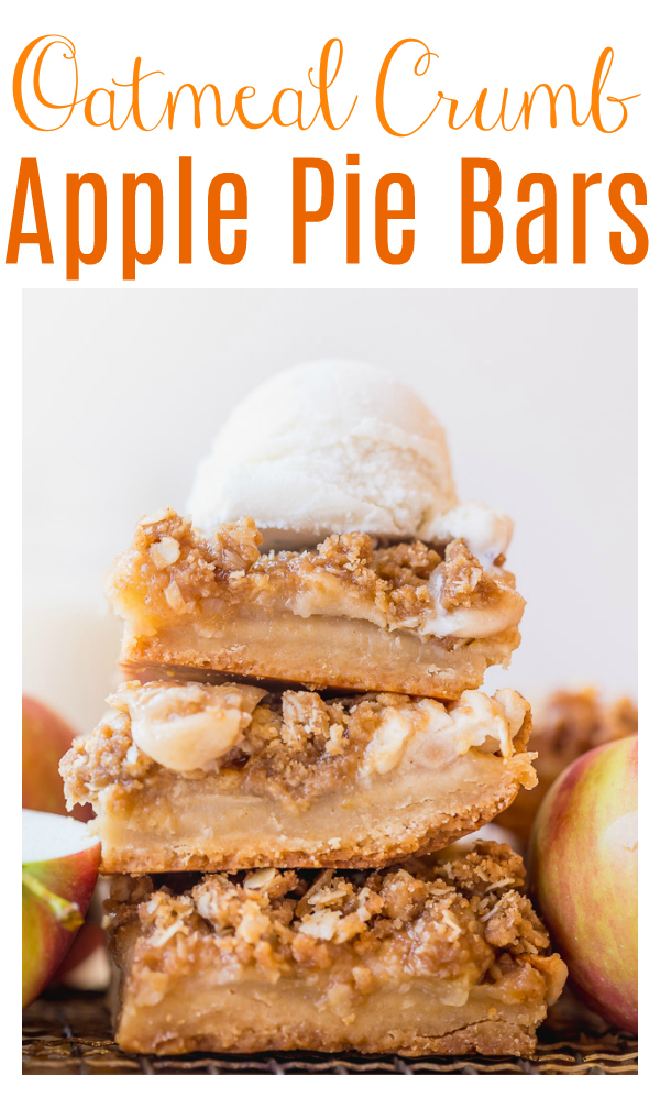 The Best Apple Crisp Bars feature a brown sugar shortbread crust, plenty of apples, and a buttery crumb topping! Bake until the top is golden and serve with vanilla ice cream! Sure to become one of your favorite apple desserts!
