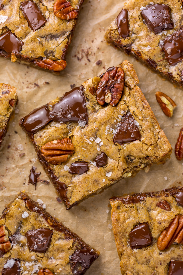 Bourbon Pecan Blondies