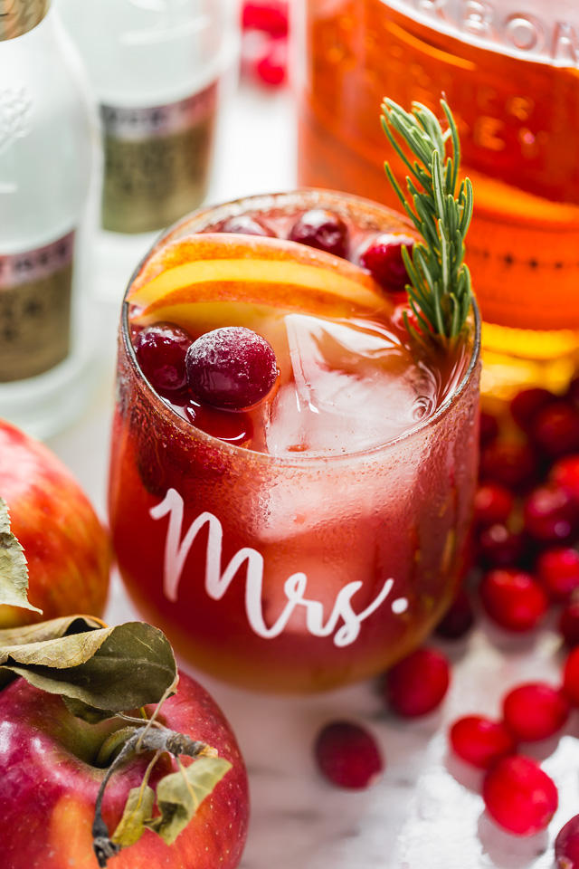 cranberry apple moscow mules