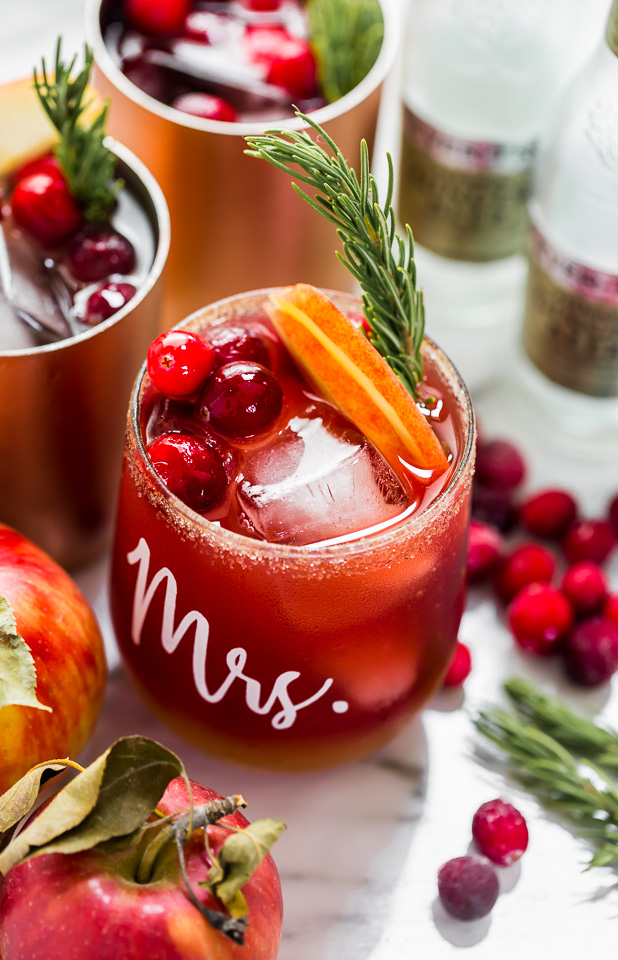 Cranberry Apple Moscow Mule