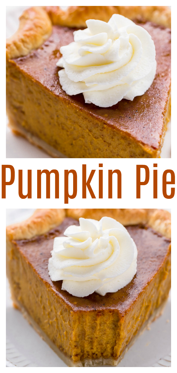 The only thing better than pumpkin pie is BOURBON PUMPKIN PIE! Made with brown sugar, pumpkin pie spice, and a big glug of bourbon, this pie is exploding with flavor and always a hit at the holidays! This is sure to become your new favorite pumpkin pie recipe!