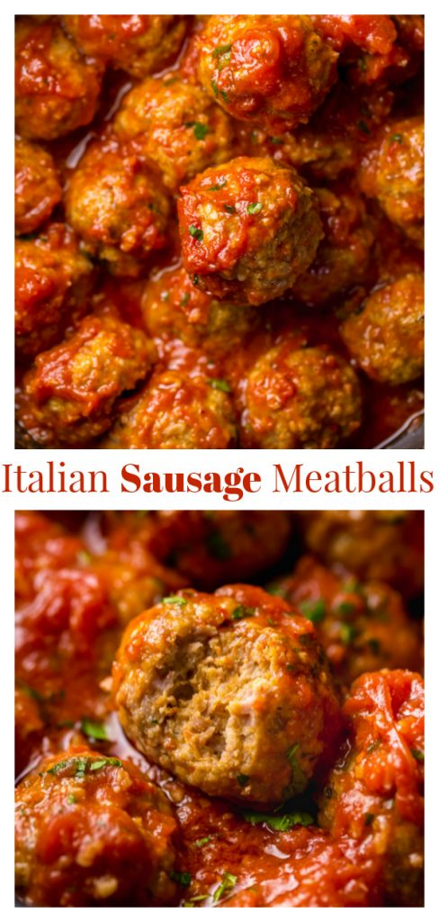 Italian Sausage Meatballs 100