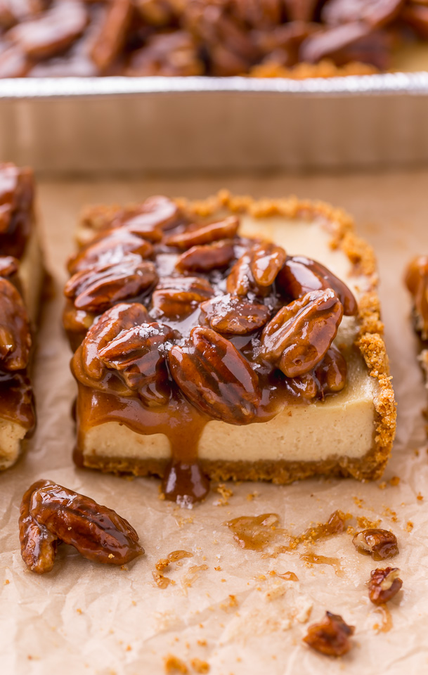 Easy Pecan Pie Cheesecake Bars Baker By Nature