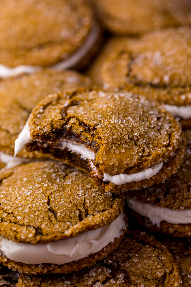 molasses cream pie cookies