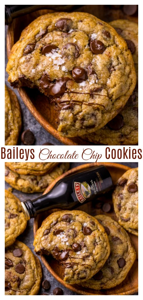 Love Baileys Irish Cream? Love Chocolate Chip Cookies?! These Baileys Irish Cream Chocolate Chip Cookies are for you! They bake up thick, chewy, and super flavorful!