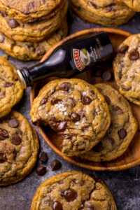 Baileys Irish Cream Chocolate Chip Cookies