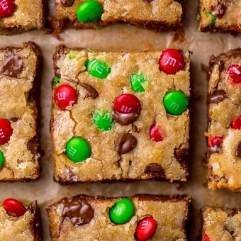 Holiday M&M Blondies