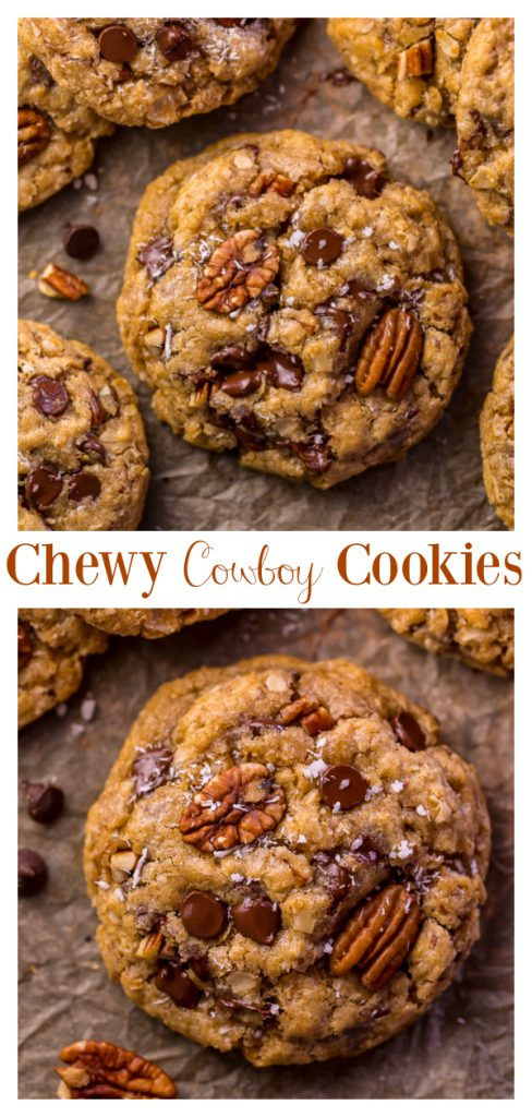 Have you've been searching for The Best Cowboy Cookies Recipe? THIS IS IT! Featuring coconut, pecans, cinnamon, chocolate, and oats - these cookies are thick, chewy, and so flavorful!