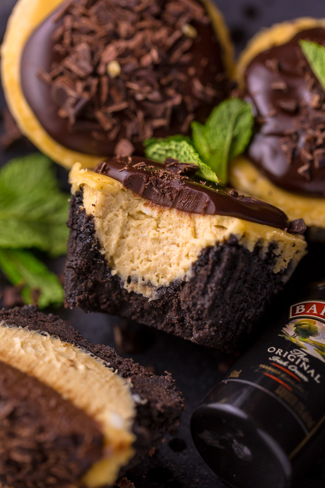 Mini Baileys Irish Cream Cheesecakes