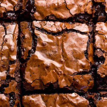 Skip the boxed brownie mix and make The BEST Cocoa Fudge Brownies instead! This recipe calls for everyday ingredients like butter, oil, eggs, sugar, unsweetened cocoa powder, all purpose flour, and salt. These super fudgy brownies are best served with a cold glass of milk!