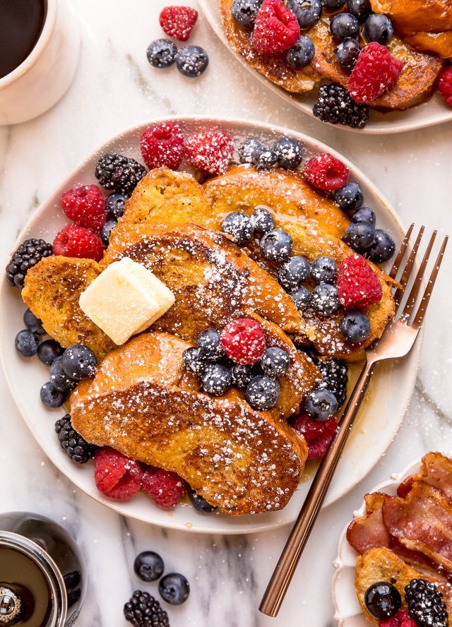 If you try this recipe for Blueberry Brioche French Toast, please let me know! Leave a comment below and don't forget to snap a pic and tag it #bakerbynature on instagram! Seeing your kitchen creations makes my day.