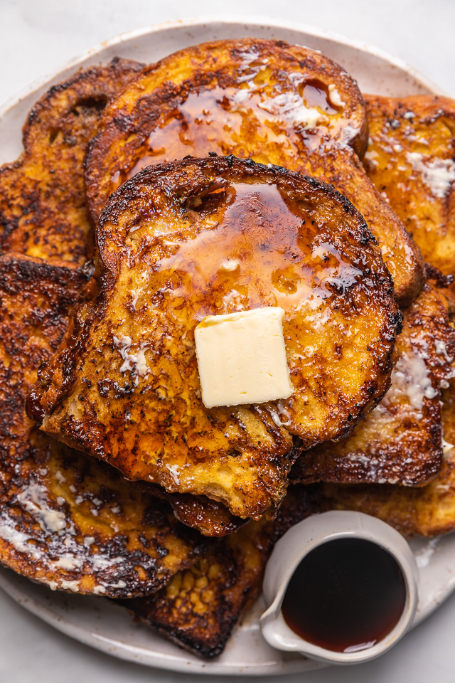 Today I'm teaching you how to make the BEST Easy French Toast! And you won't believe how quick and easy it is! Topped with maple syrup, this French toast recipe is sure to become one of your favorite breakfasts!