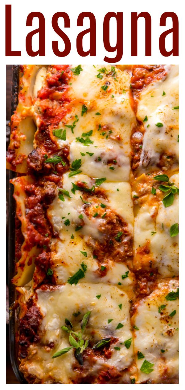 The Best Homemade Lasagna Recipe is cheesy, meaty, saucy, and SO delicious!!! And while this recipe requires a bit of work, it can be made ahead of time and stored in the fridge for up to 24 hours before baking. A hearty recipe that's perfect for feeding large groups!