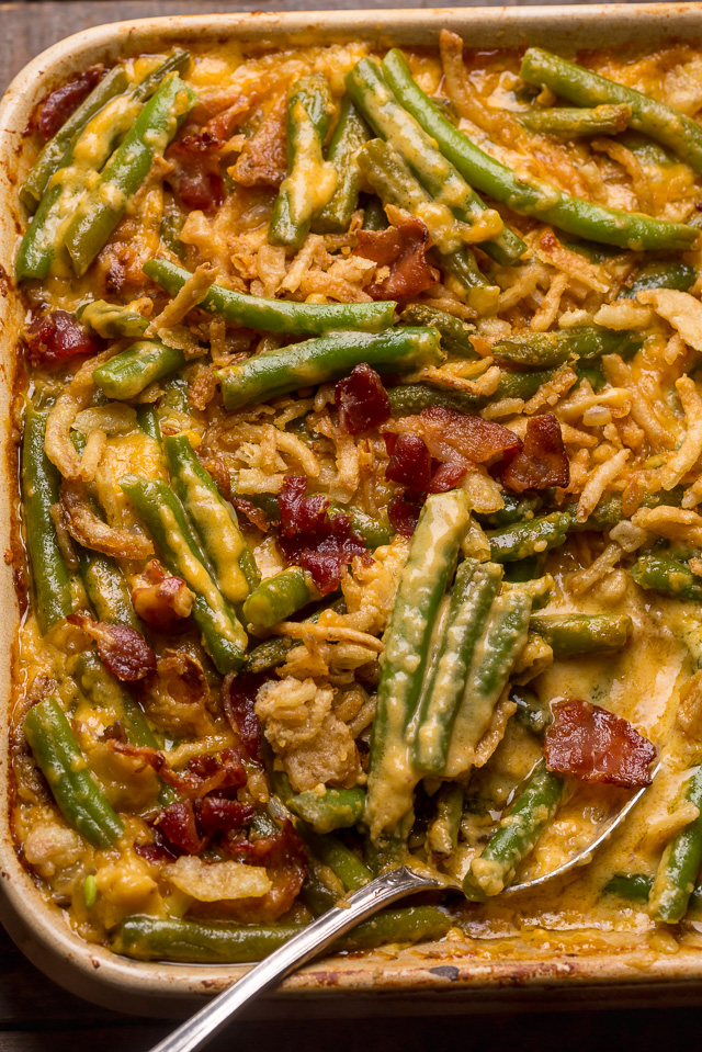 Cheesy Bacon Green Bean Casserole Baker By Nature