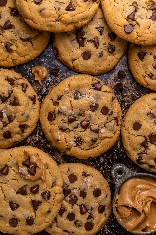 Bakery Style Peanut Butter Chocolate Chip Cookies Baker By Nature