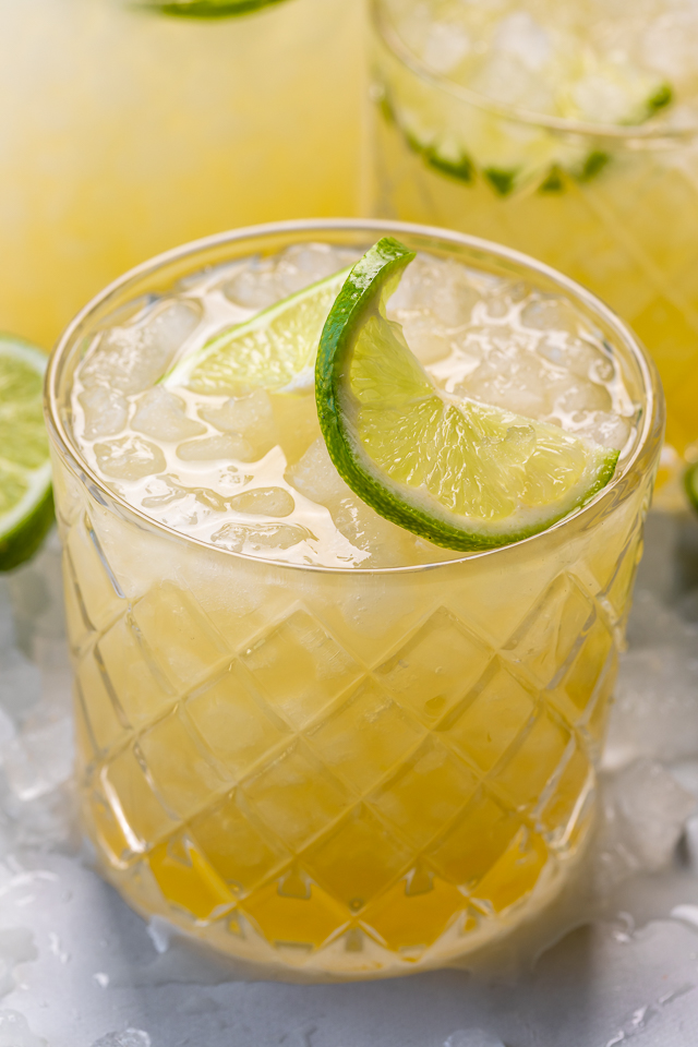 Made with freshly squeezed lime juice, orange juice, orange liqueur, tequila, and just a touch of honey, this is the Best 5 Minute Margarita Recipe you'll ever make! One of the most popular cocktails in the world, and perfect for those hot Summer days! So without further ado, let's make my perfect homemade margaritas!
